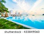 beautiful luxury outdoor... | Shutterstock . vector #433849060