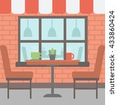 background of street cafe. cafe ...   Shutterstock .eps vector #433860424