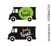 food truck logo template | Shutterstock .eps vector #433866214