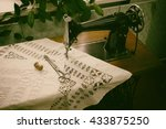 Retro Sewing Machine In The...
