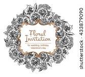 vintage delicate invitation... | Shutterstock . vector #433879090