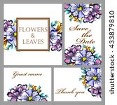 romantic invitation. wedding ... | Shutterstock . vector #433879810