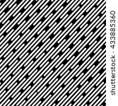 striped pattern seamless black... | Shutterstock . vector #433885360