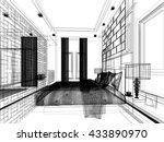 abstract sketch design of... | Shutterstock . vector #433890970