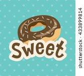 sweet label. vector... | Shutterstock .eps vector #433899814