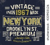 vintage varsity style tee print ... | Shutterstock .eps vector #433903126