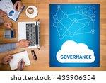 governance business team hands... | Shutterstock . vector #433906354