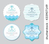 stickers templates set with... | Shutterstock .eps vector #433907149