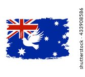 peace dove on the flag of the... | Shutterstock .eps vector #433908586