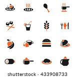 food and kitchen web icons for... | Shutterstock .eps vector #433908733
