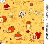 rosh hashanah  jewish new year  ... | Shutterstock .eps vector #433912000