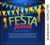festa junina party poster | Shutterstock .eps vector #433912798