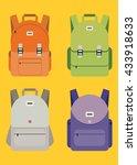 schoolbag flat illustration.... | Shutterstock .eps vector #433918633