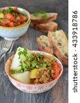 lentils with  vegetables  ... | Shutterstock . vector #433918786