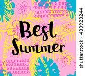 best summer card. vector...   Shutterstock .eps vector #433923244