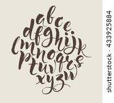hand written alphabet.... | Shutterstock .eps vector #433925884