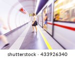 metro train passing by in ... | Shutterstock . vector #433926340