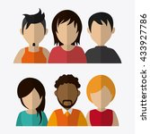 people design. avatar icon.... | Shutterstock .eps vector #433927786