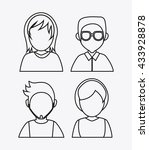 people design. avatar icon.... | Shutterstock .eps vector #433928878