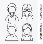 people design. avatar icon.... | Shutterstock .eps vector #433929010
