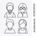 people design. avatar icon.... | Shutterstock .eps vector #433929010
