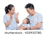 young asian parent with their...   Shutterstock . vector #433933780