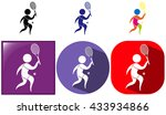 sport icon for tennis in three...   Shutterstock .eps vector #433934866