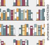 bookshelves hand drawn vector.... | Shutterstock .eps vector #433942360