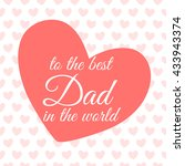 happy fathers day lettering... | Shutterstock .eps vector #433943374