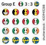 group e  euro 2016  football... | Shutterstock .eps vector #433945288