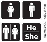 restroom icon | Shutterstock .eps vector #433951498