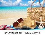 summer holiday background | Shutterstock . vector #433962946