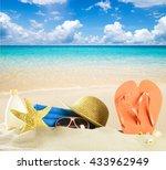 summer holiday background | Shutterstock . vector #433962949