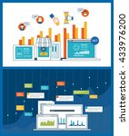 concept for business analysis ... | Shutterstock .eps vector #433976200