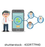 business man social media... | Shutterstock . vector #433977940