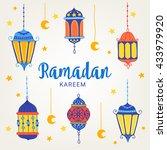 Ramadan Greeting Card With Six...