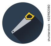 icon of hand saw. flat design....
