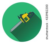 icon of chain saw. flat design. ...
