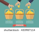 allocating eggs into more than... | Shutterstock .eps vector #433987114