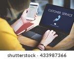 customer service assistance... | Shutterstock . vector #433987366