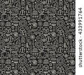 car details pattern in doodle... | Shutterstock .eps vector #433991764