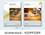 book cover design. corporate... | Shutterstock .eps vector #433992589