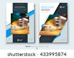 brochure cover design.... | Shutterstock .eps vector #433995874