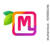 M Letter In Square With Juice...