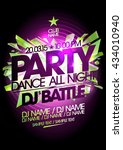 dance all night party art... | Shutterstock .eps vector #434010940