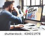 latest headlines breaking... | Shutterstock . vector #434011978