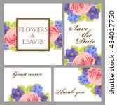 vintage delicate invitation... | Shutterstock . vector #434017750