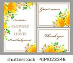 abstract flower background with ... | Shutterstock . vector #434023348