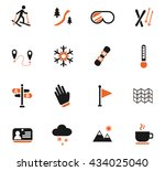 skiing web icons for user... | Shutterstock .eps vector #434025040
