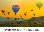 journey hot air balloon over... | Shutterstock . vector #434026108